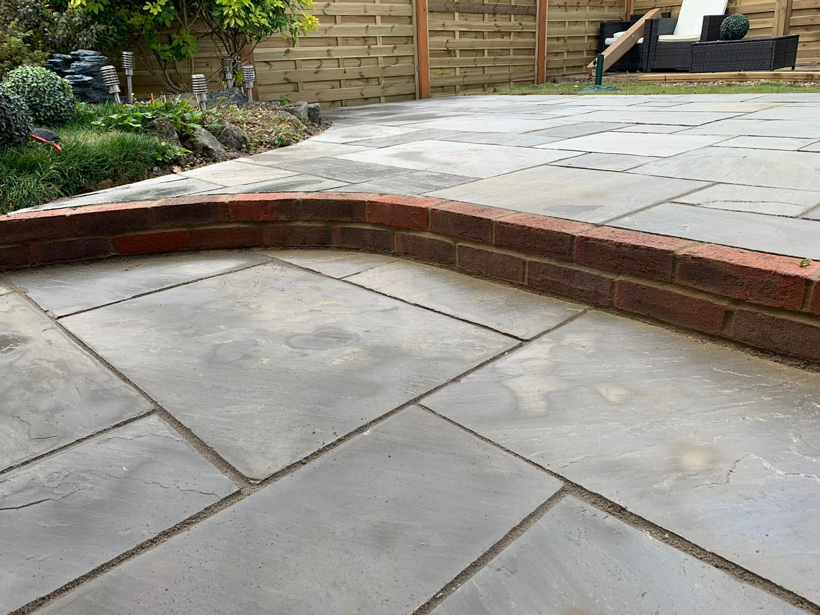 new patio laid in harpenden