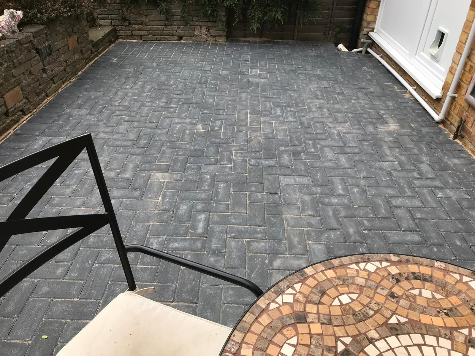 block paving patio installed in st albans