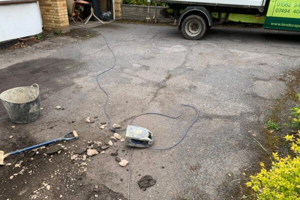 old driveway replaced with new in hertfordshire