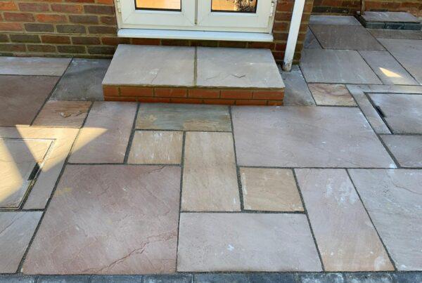raj blend sandstone patio