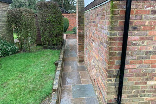 sandstone pathway laid in harpenden