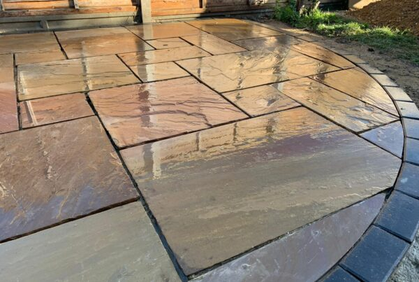 Camel Indian Sandstone Patio in Hitchin