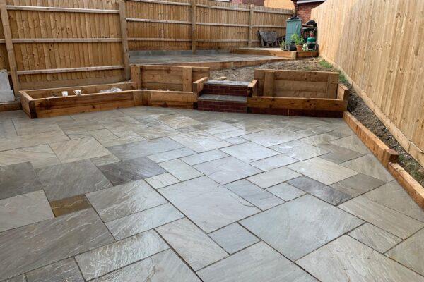 kandla grey sandstone patio