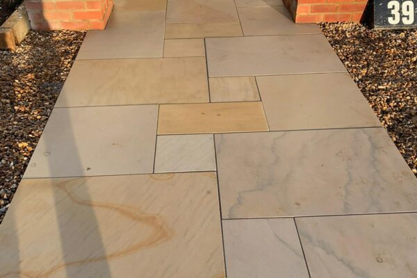 Sawn Owned Smooth Sandstone path in St Albans