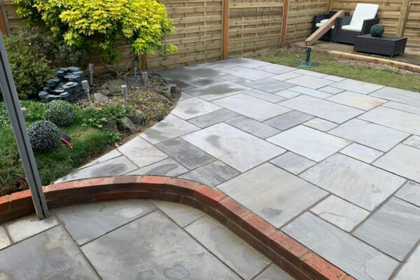 sandstone patio job in hatfield