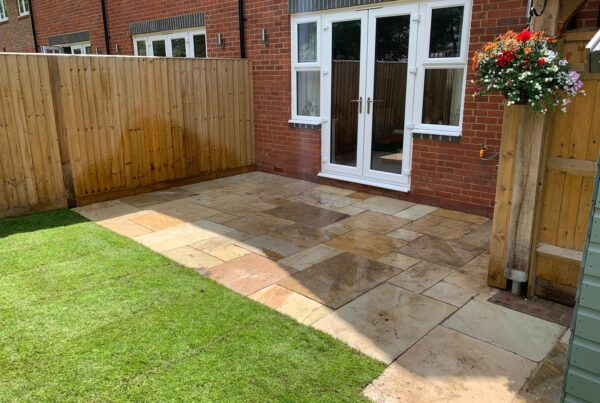 fossil mint sandstone patio in letchworth