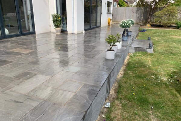 raised kandla sandstone patio letchworth garden city