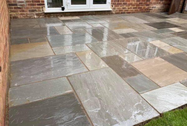 garden patios in sandstone